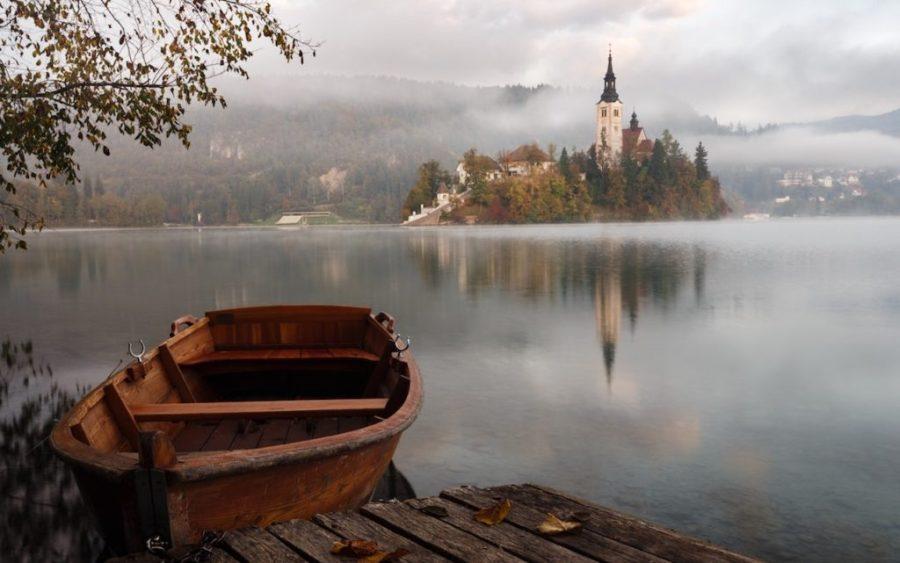pic- boat lake steeple